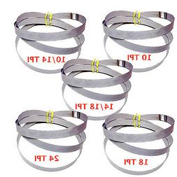 "10 Assorted Cobalt Portable Bandsaw Blades Portaband 44-7/8"""