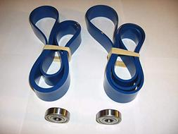 2 BLUE MAX URETHANE BAND SAW TIRES AND 2 BLADE GUIDE BEARING