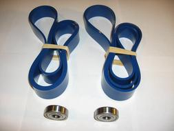 2 BLUE MAX URETHANE BAND SAW TIRES AND NEW THRUST BEARINGS F