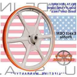"""2 Urethane Band Saw Tires for 20"""" Delta 28-653 Type 2 -Rplcs"""