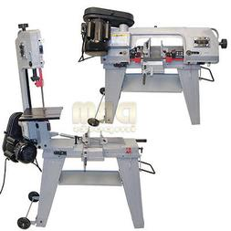 "4-1/2"" Metal Cutting Band Saw 4x6 Horizontal Vertical Band S"