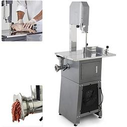 ARKSEN 2-in-1 Dual Electric Meat Band Saw & Meat Grinder Sta