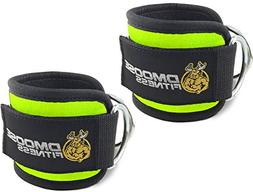 DMoose Fitness Ankle Straps for Cable Machines  - Stainless