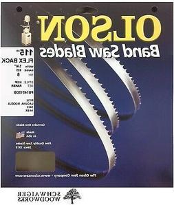 "Olson Band Saw Blade 115"" inch x 1/4"", 6 TPI for Laguna 1412"