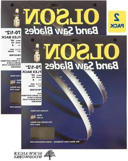 "Olson Band Saw Blade 70-1/2"" x 3/8"", 4TPI for 10"" Craftsman"