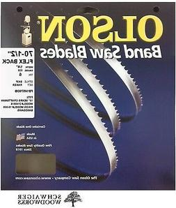 "Olson Band Saw Blade 70-1/2"" x 1/4"", 6TPI for 10"" Craftsman"