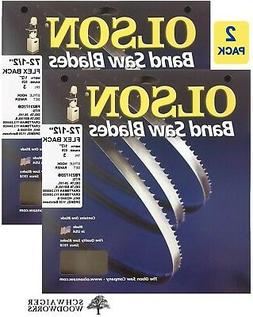 "Olson Band Saw Blade 72-1/2"" to 72-5/8"" x 1/2"", 3TPI for Del"