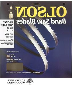 "Olson Band Saw Blade 70-1/2"" x 1/2"", 3TPI for 10"" Craftsman"