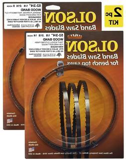 """Olson Band Saw Blades 52-3/4"""" inch x 1/8"""" & 1/4"""", Black & De"""