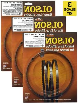 "Olson Band Saw Blades 59-1/4"" inch x 1/8"",1/4"" & 3/8"", for 9"