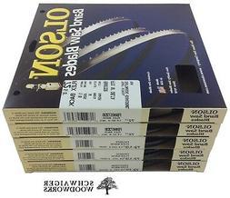 """Olson Band Saw Blades 72-1/2"""" - 72-5/8"""" inch x  Widths Set,"""