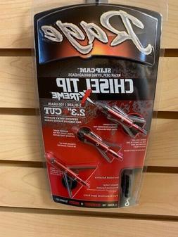 Rage Extreme Chisel 2 Blade Broadhead, 100 Grain