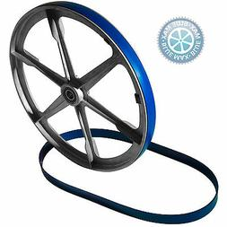 2 BLUE MAX URETHANE BAND SAW WHEEL BELTS FOR DELTA SHOPMASTE