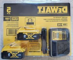 DEWALT DCB205-2CK 20V 20 Volt Max 2 PC DCB205 DCB115 Charger
