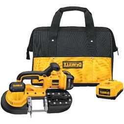 DEWALT DCS370L 18V Cordless Band Saw Kit With Battery And Ch