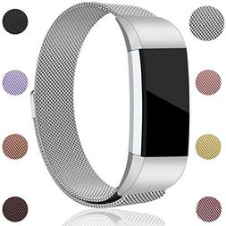 Maledan for Fitbit Charge 2 Bands, Stainless Steel Milanese