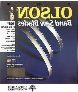 "Olson Flex Back Band Saw Blades 105"" x 3/16""  10TPI,  Made i"