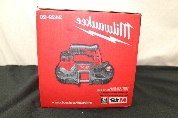 Milwaukee 2429-20 M12 Cordless Sub-Compact Band in box.