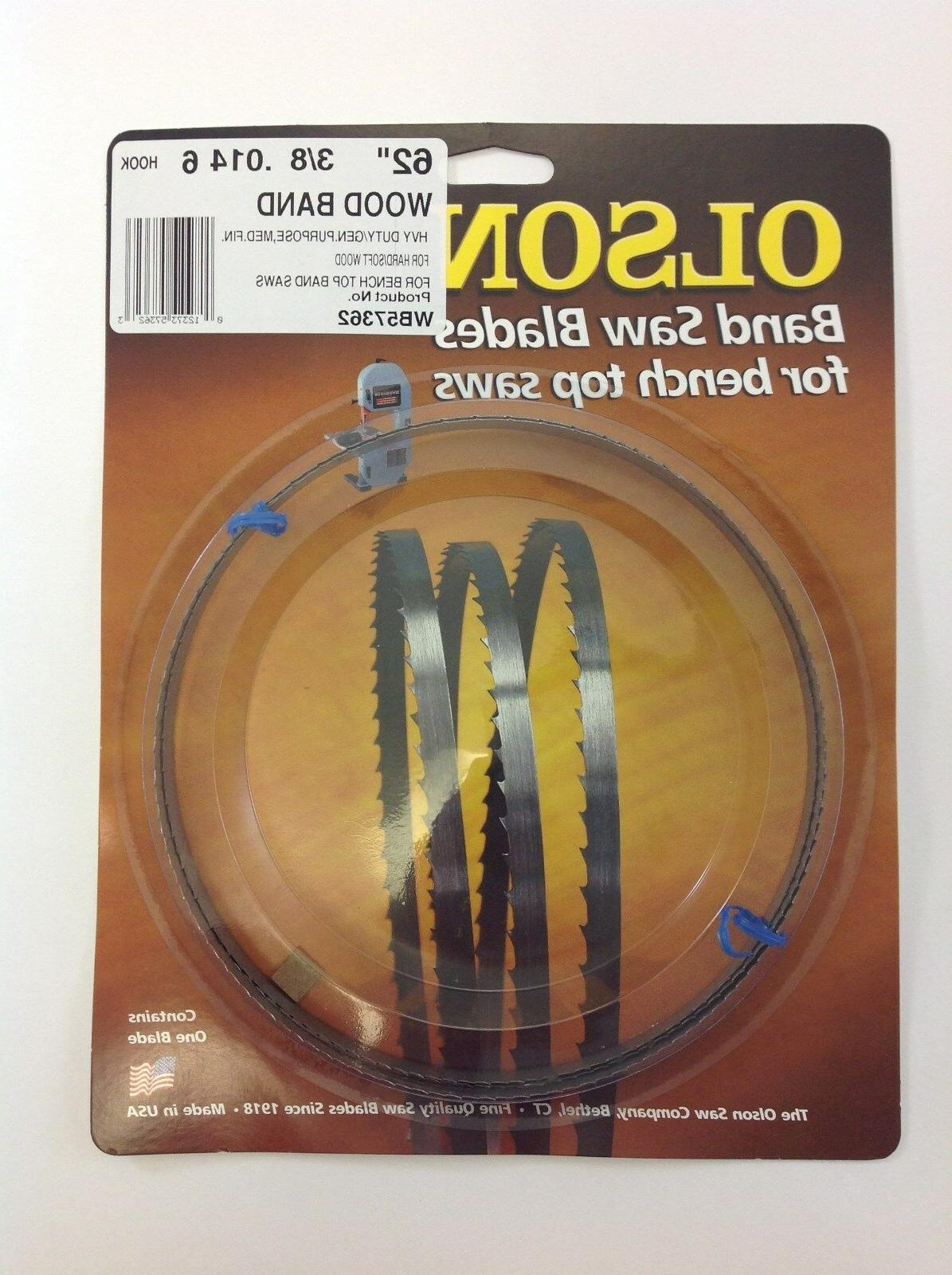 "Olson Band Saw Blade 62"" TPI for Craftsman Skil 3104 & Grizzly"