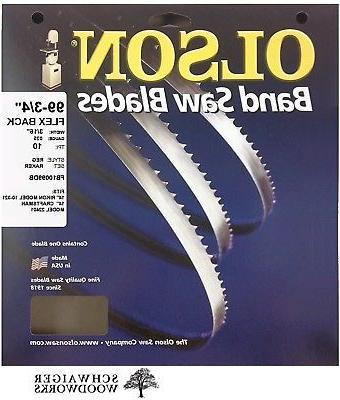 """Olson Band Saw Blade 99-3/4"""" inch x 3/16"""", 10 TPI, Craftsman"""