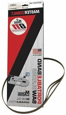 "Morse 2 ft. 8-7/8"" Bi-Metal 811 Portable Band Saw Blade, 1/2"
