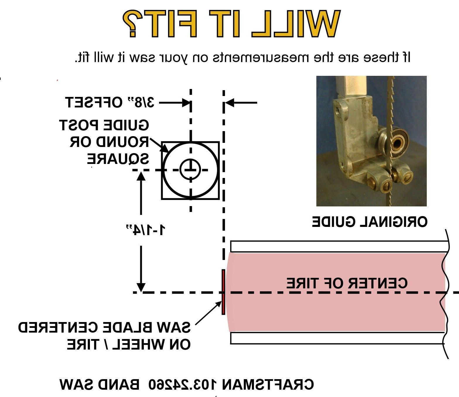 "Craftsman 12"" Band -103.24260 Ball Bearing Guide - An Incredible upgrade"
