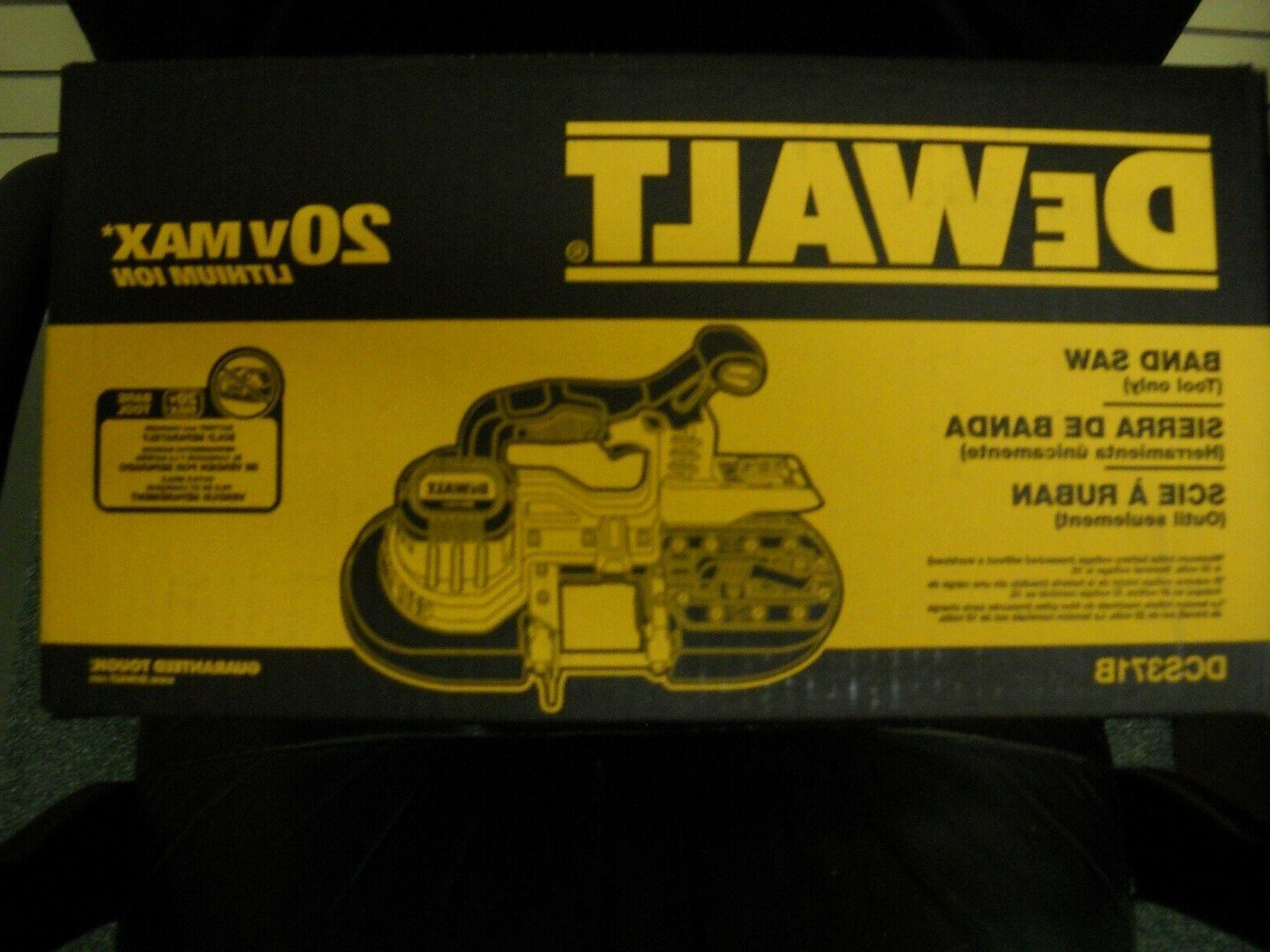 dcs371b 20v volt max cordless bandsaw li