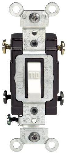 20 Amp Double-Pole Toggle Switch Commercial - White