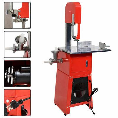 New Electric 550W Stand Up Butcher Meat Band Saw & Grinder P