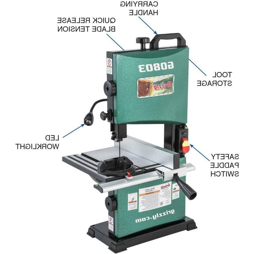 "G0803 Grizzly 9"" Bandsaw"