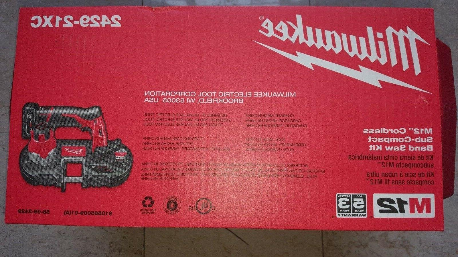 MILWAUKEE M12 Sub-Compact Kit NEW 48-11-2402