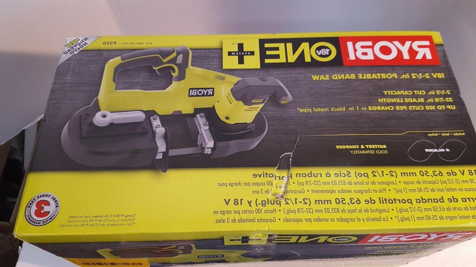 Ryobi P590 18V Portable Cordless 2.5 in. Band Saw  - NEW !!!