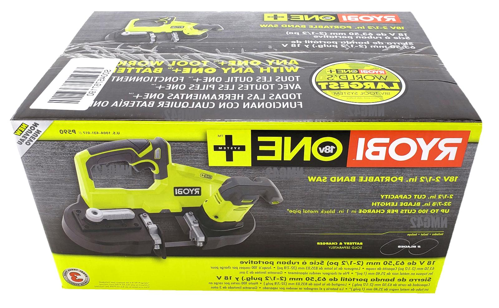 RYOBI P590 Portable Cordless 2.5 in. Saw Tool Only Factory Sealed New