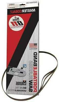 Portable Band Saw Blade,32-7/8in,PK3 MORSE ZWEP32811MC