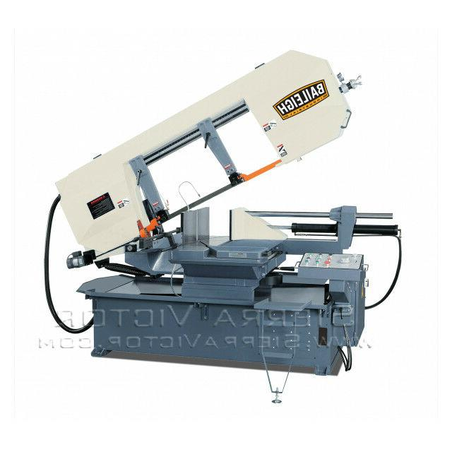 semi automatic dual mitering horizontal band saw