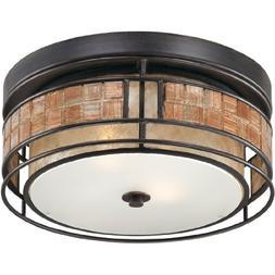 Laguna 2 Light Outdoor Ceiling Fixture - Size: 12 W x 12 D