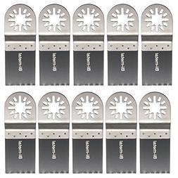 Letbo New 10pcs 35mm Bi-metal Saw Blades Oscillating Tool fo