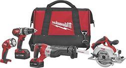 Milwaukee 2694-24 M18 18-Volt 4-Tool Cordless Combo Kit