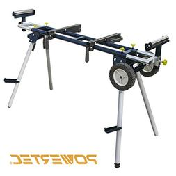 POWERTEC MT4000 Deluxe Miter Saw Stand with Wheels and 110V