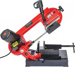 """Portable 4"""" Bench Top MetalBand Saw, 2-Speed Pivoting Head"""
