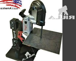 Rilla Portable Bandsaw Stand Table for Milwaukee Portable Ba