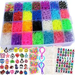Rainbow Loom Rubber Bands Refill 11000pc Bracelet Kit Storag