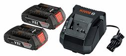Bosch SKC181-02 18V 2.0 Ah Lithium-Ion Batteries and Charger