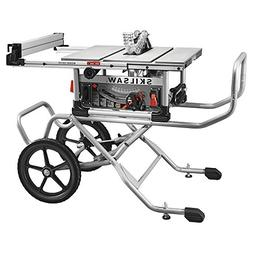 "spt99-11 10"" heavy duty worm drive table saw with stand, sil"
