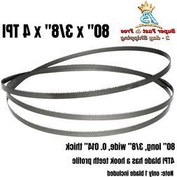 """TPI Band Saw Blades 13196 80"""" x 3/8"""" x 4 Fit 12-inch Craftsm"""