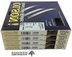 """Olson Wood Band Band Saw Blades 93-1/2"""" inch x  Widths Set,"""